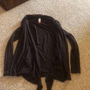 Brown open front cardigan